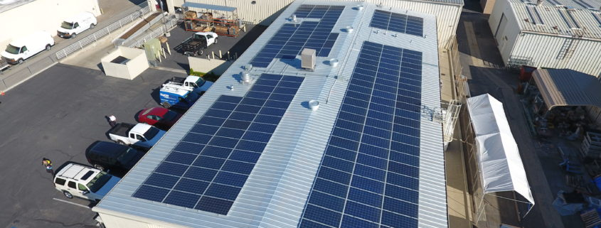 Commercial Solar Rooftop Install