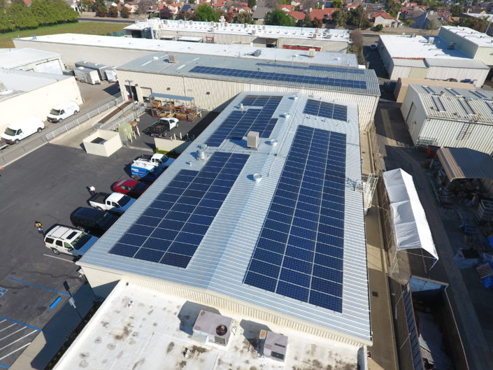 Commercial Solar Roof Install